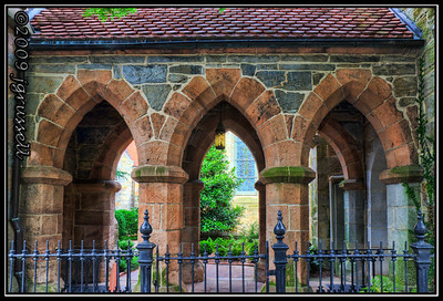 Church breezeway (HDR)
